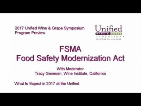 Food Safety Modernization Act (FSMA) session